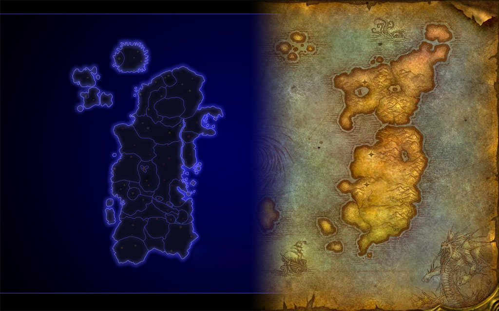 World of Warcraft - Azeroth map for Defcon - Introversion